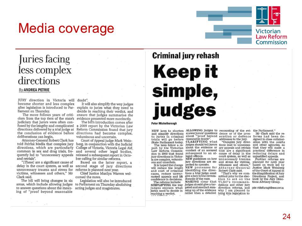 24 Media coverage