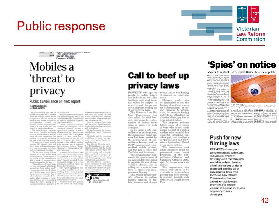 42 Public response