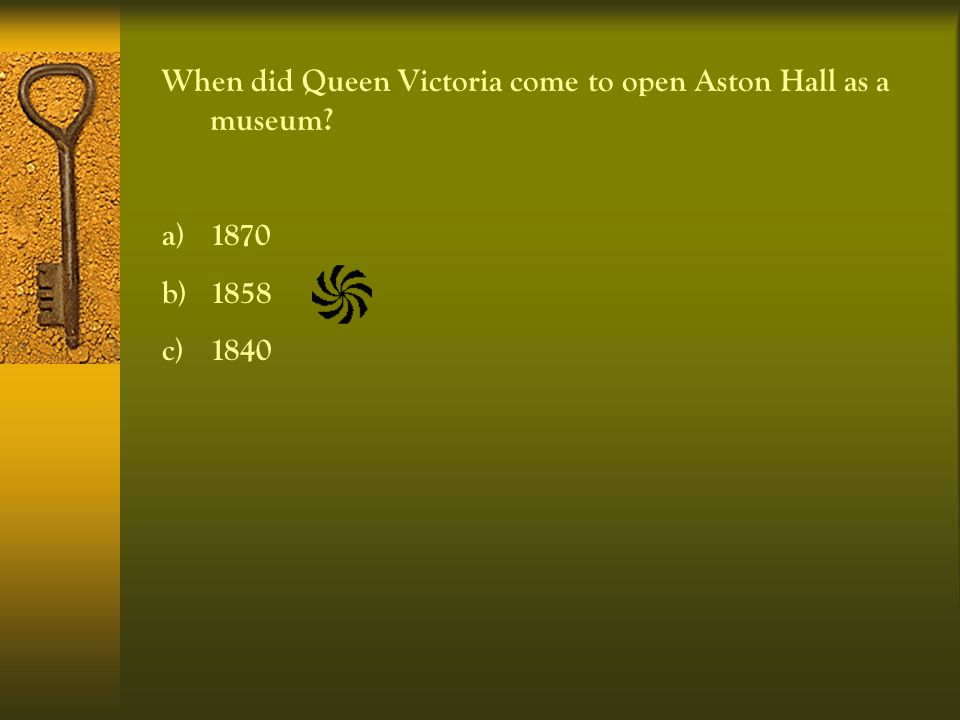 Princess Victoria visited James Watt before she became Queen. In which year? a)1841 b)1835 c)1853