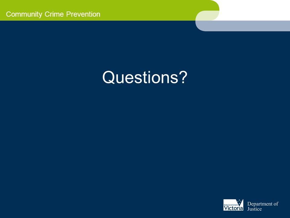 Community Crime Prevention Questions