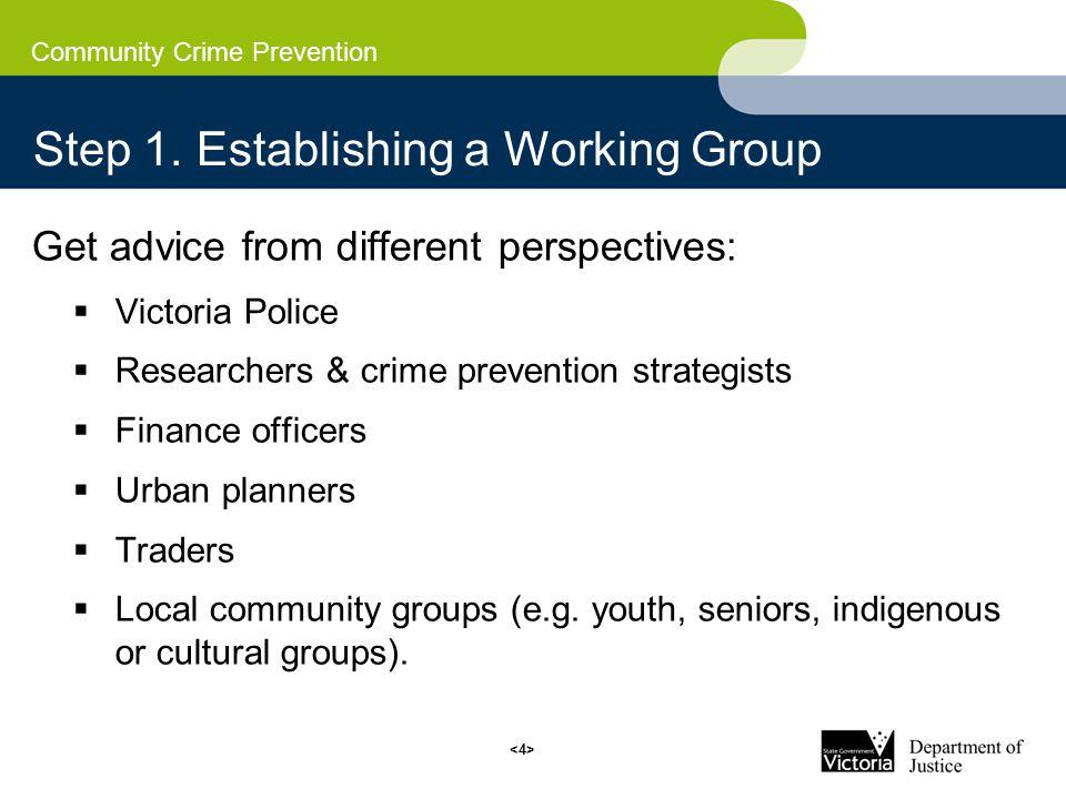 Community Crime Prevention Step 1.