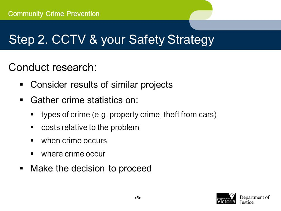 Community Crime Prevention Step 2.