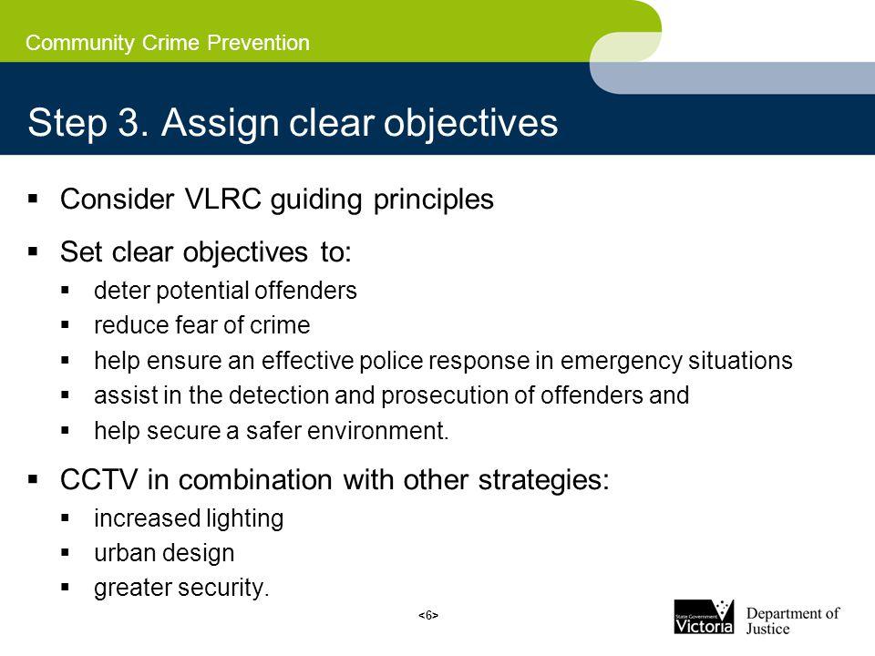 Community Crime Prevention Step 3.