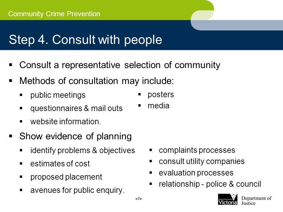 Community Crime Prevention Step 4.