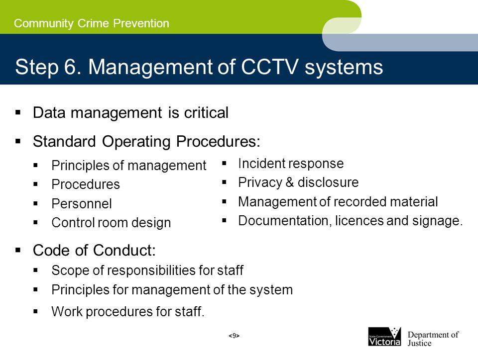 Community Crime Prevention Step 6.
