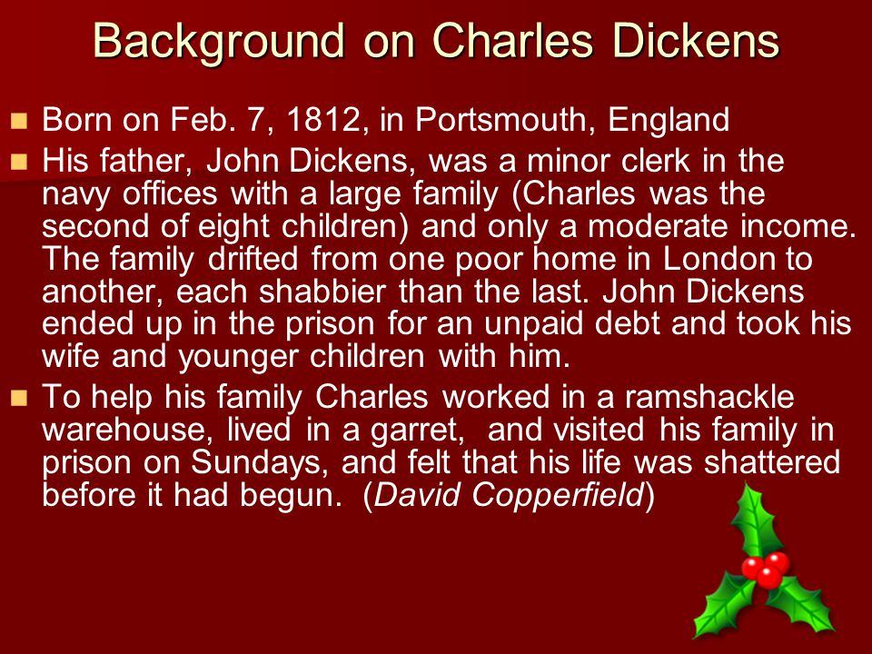 Background on Charles Dickens Born on Feb.