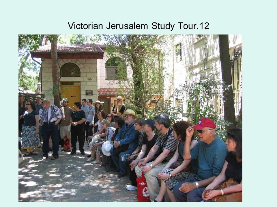 Victorian Jerusalem Study Tour.12