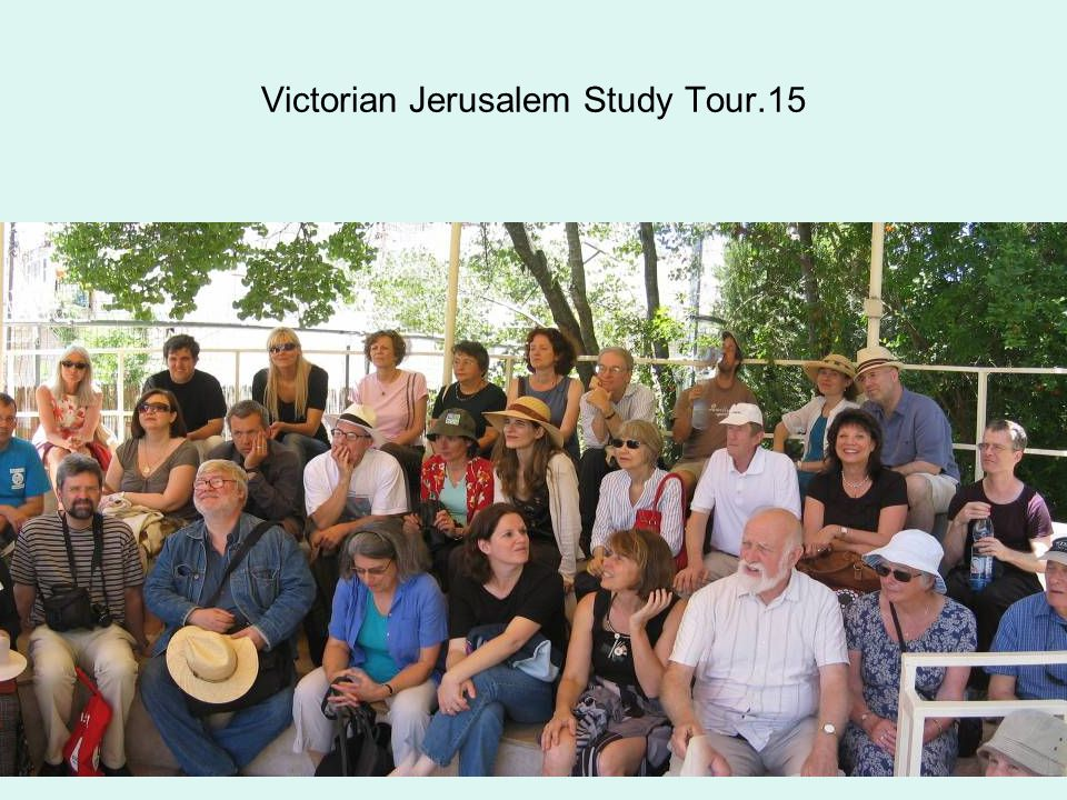 Victorian Jerusalem Study Tour.15
