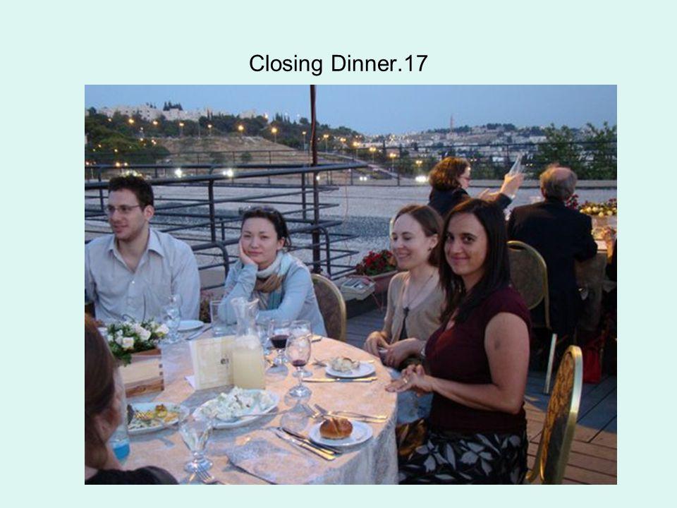 Closing Dinner.17