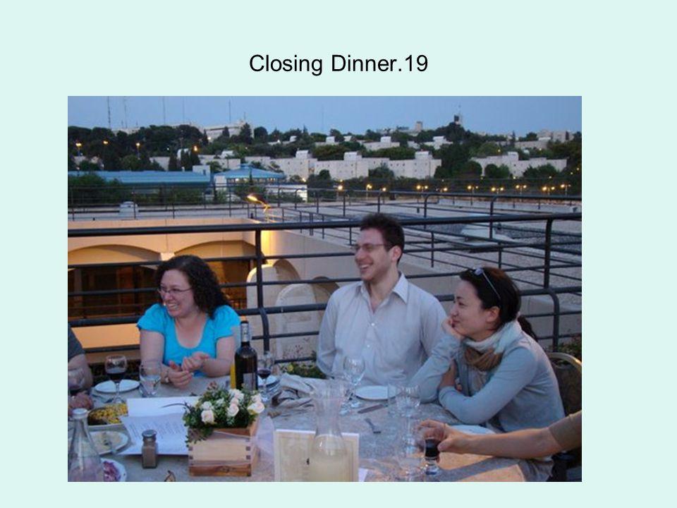Closing Dinner.19