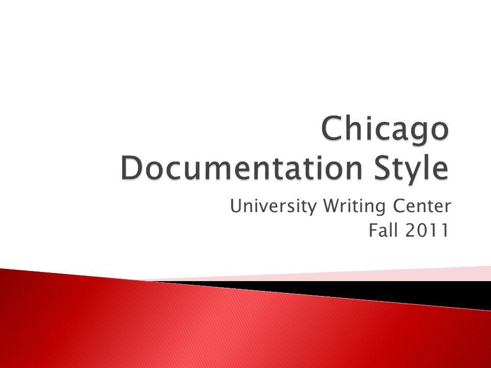 University Writing Center Fall 2011