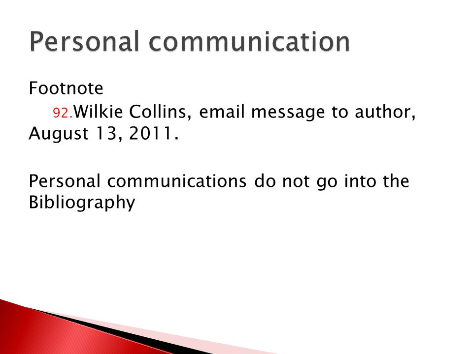 Footnote 92.Wilkie Collins, email message to author, August 13, 2011.