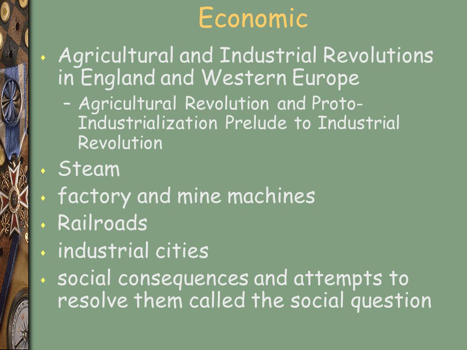 Causes and Impacts of IR s Once the middle classes acquire universal manhood suffrage then the social question can be addressed s Repressed classes s Population increases beginning about 1730 related to agriculture revolution