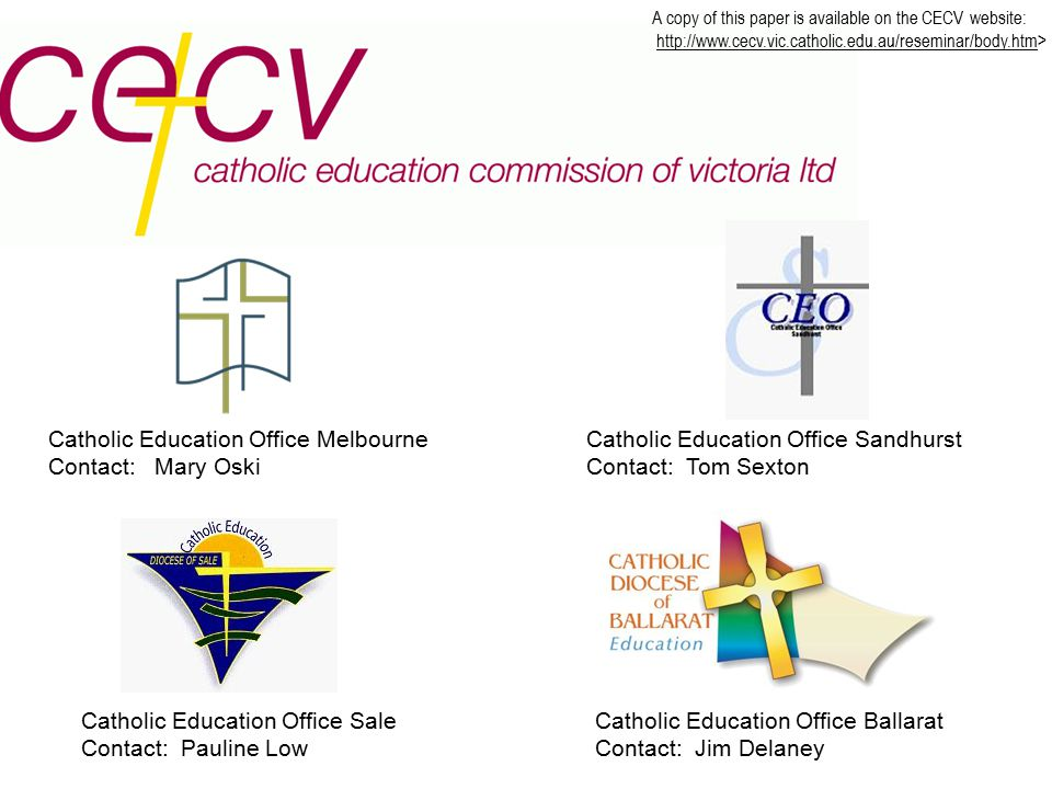 OUTLINE OF PRESENTATION 1.CECV Context 2.Evidence Informing Strategic Response 3.Leadership & School Improvement 4.Leadership Standards Framework 5.The use of the Framework within schools and across dioceses