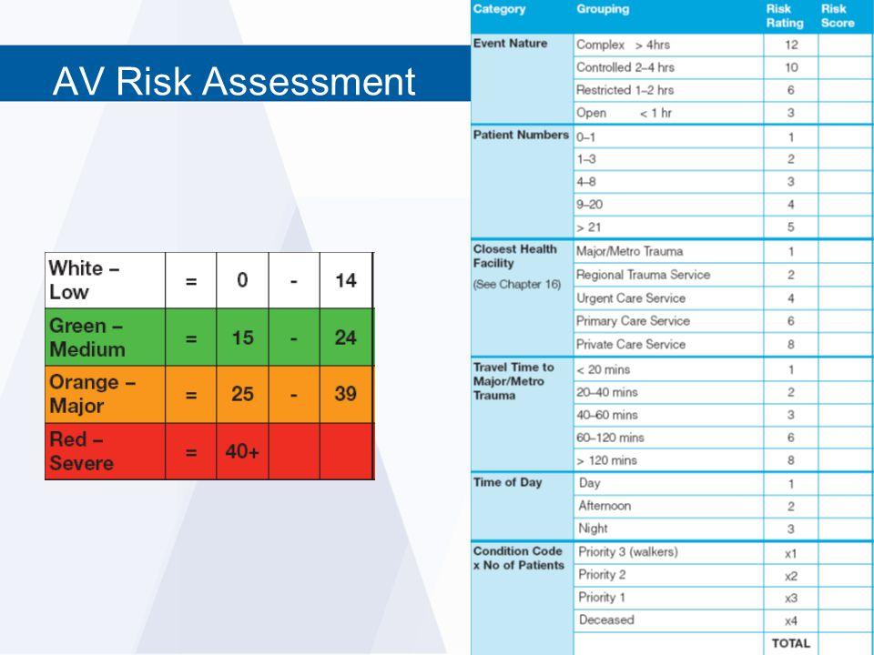 AV Risk Assessment