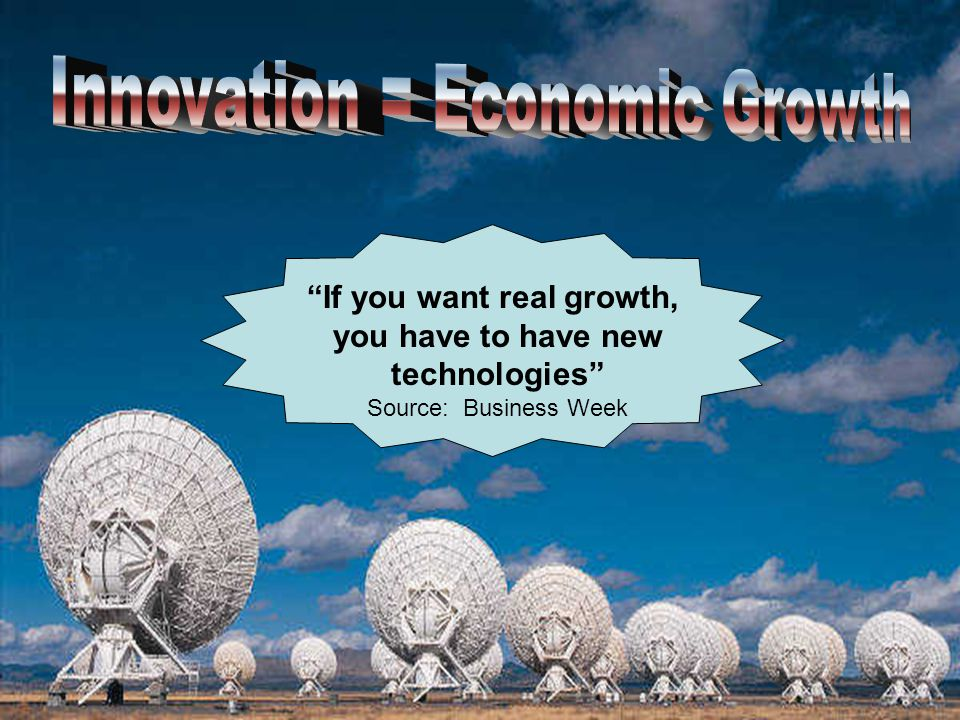 If you want real growth, you have to have new technologies Source: Business Week