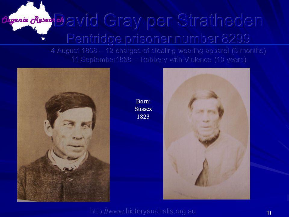http://www.historyaustralia.org.au 11 Born: Sussex 1823