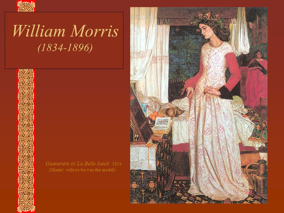 William Morris (1834-1896) Guenevere or La Belle Iseult 1854 (Morris' wife-to-be was the model)