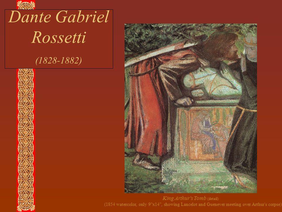 Dante Gabriel Rossetti (1828-1882) King Arthur's Tomb (detail) (1854 watercolor, only 9