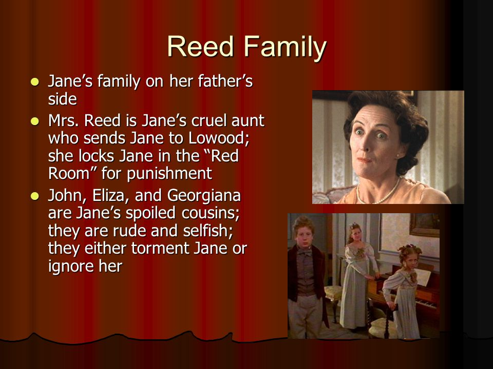 Reed Family Jane's family on her father's side Jane's family on her father's side Mrs.
