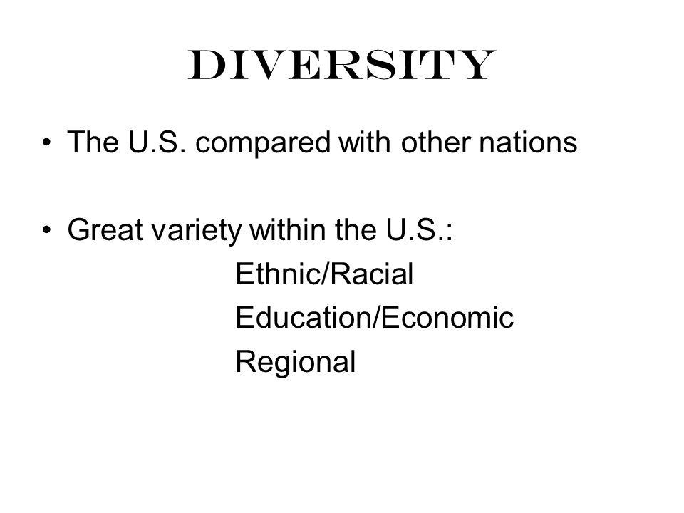 diversity The U.S.