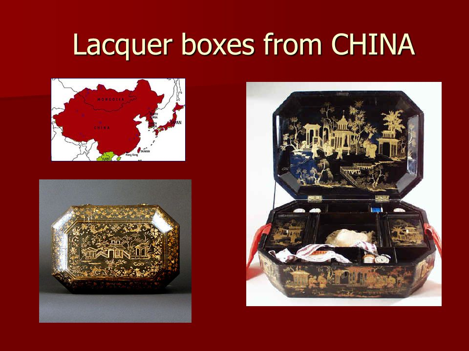 Lacquer boxes from CHINA Lacquer boxes from CHINA
