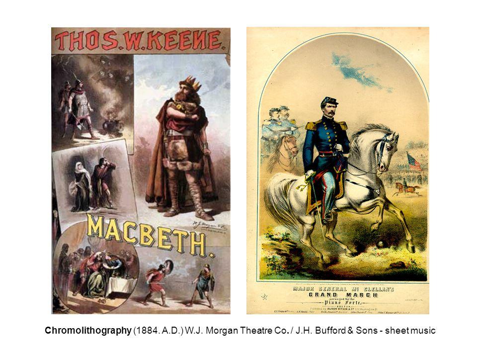 Chromolithography (1884. A.D.) W.J. Morgan Theatre Co. / J.H. Bufford & Sons - sheet music