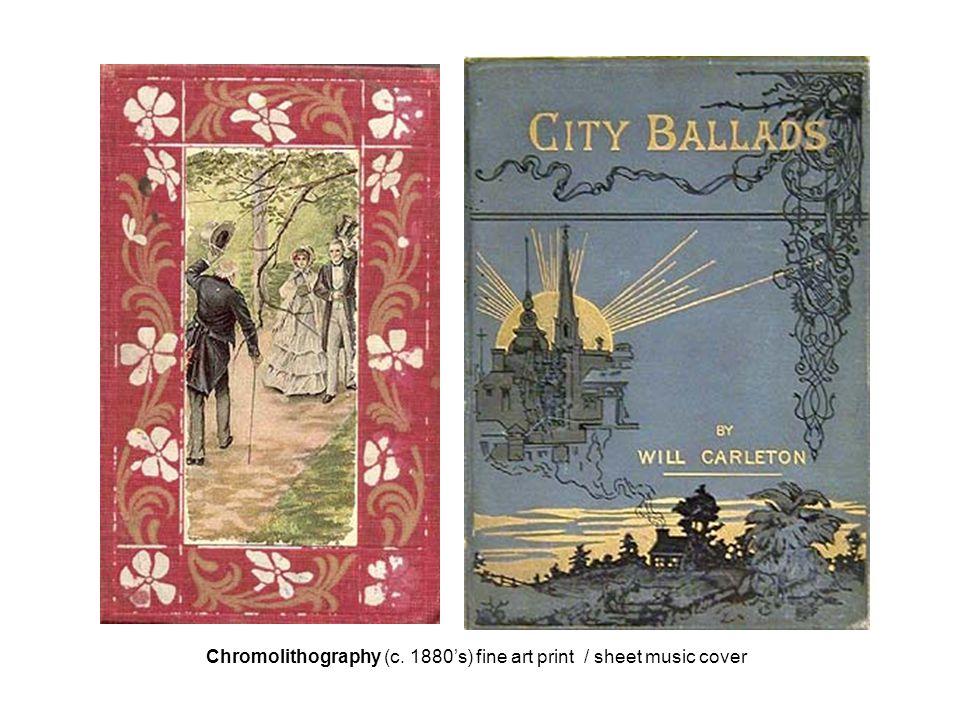 Chromolithography (c. 1880's) fine art print / sheet music cover