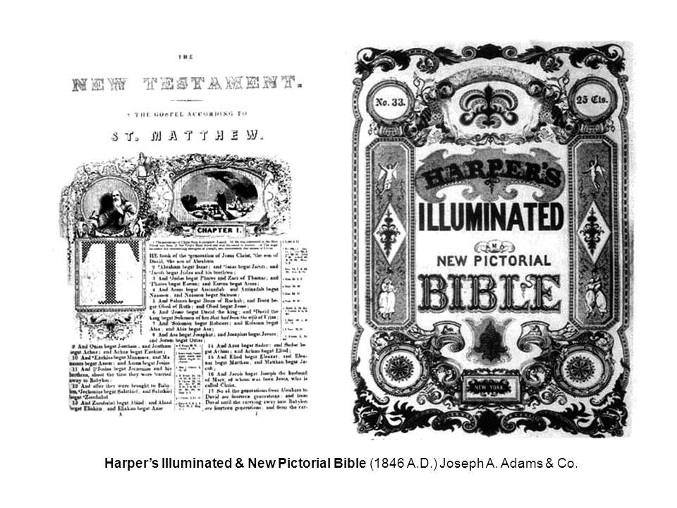 Harper's Illuminated & New Pictorial Bible (1846 A.D.) Joseph A. Adams & Co.