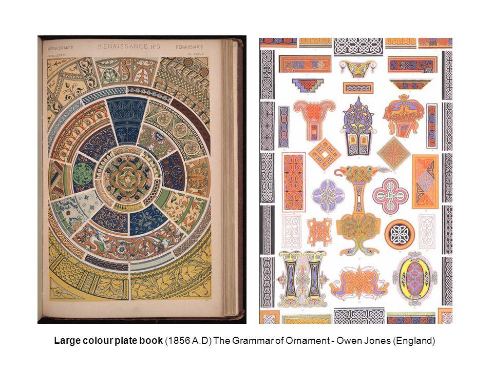 Large colour plate book (1856 A.D) The Grammar of Ornament - Owen Jones (England)
