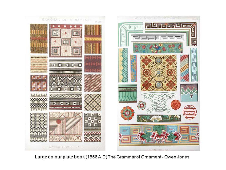 Large colour plate book (1856 A.D) The Grammar of Ornament - Owen Jones