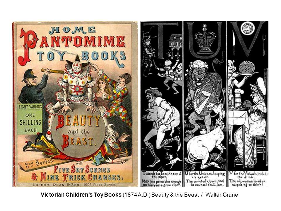 Victorian Children's Toy Books (1874 A.D.) Beauty & the Beast / Walter Crane