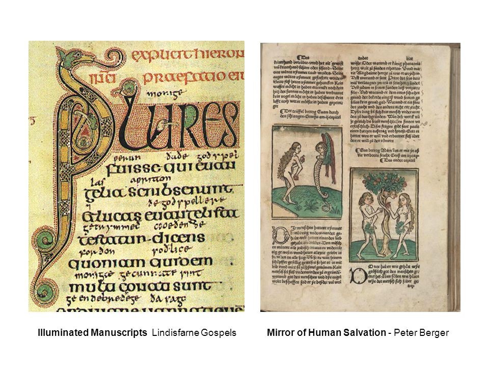 Illuminated Manuscripts Lindisfarne Gospels Mirror of Human Salvation - Peter Berger