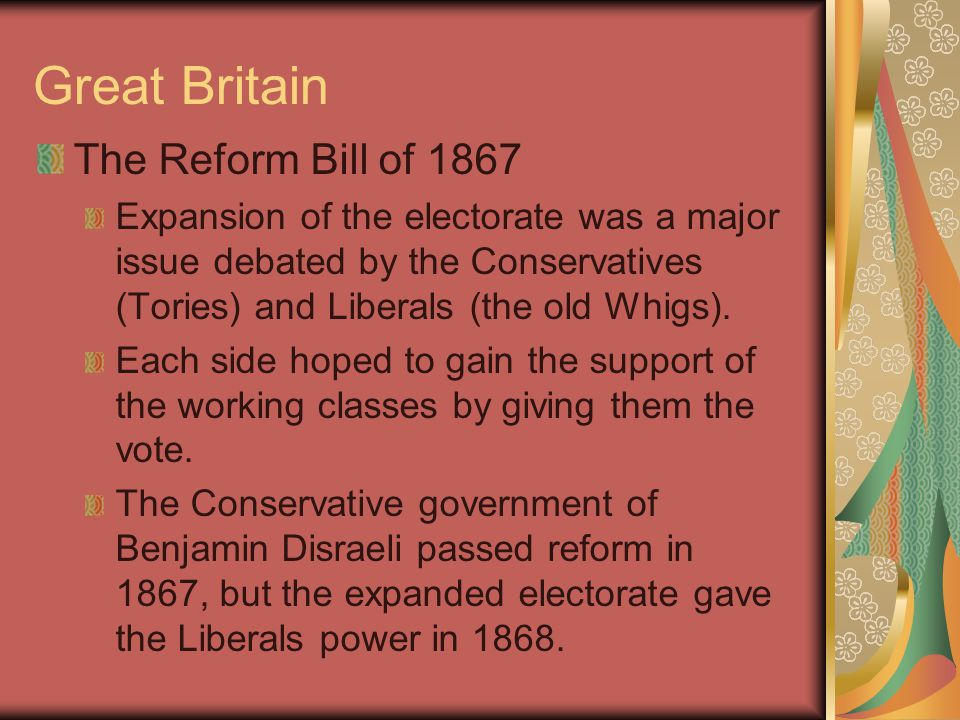 Great Britain William Gladstone Liberal Party Leader, served as PM four times.