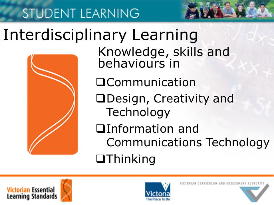 Interdisciplinary Learning  Communication  Design, Creativity and Technology  Information and Communications Technology  Thinking Knowledge, skills and behaviours in