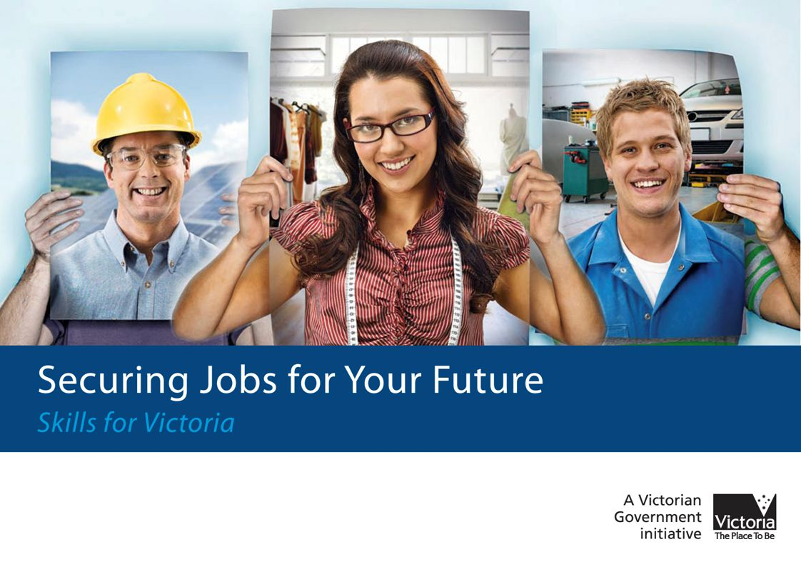 The ongoing strength of the Victorian economy depends on the skills of the Victorian workforce If training delivery continues at the current level, Victoria is facing a projected shortfall of over 120,000 VET graduates at the highest skill levels – Diploma and Advanced Diploma – by 2015 Projected need Projected supply, based on current model