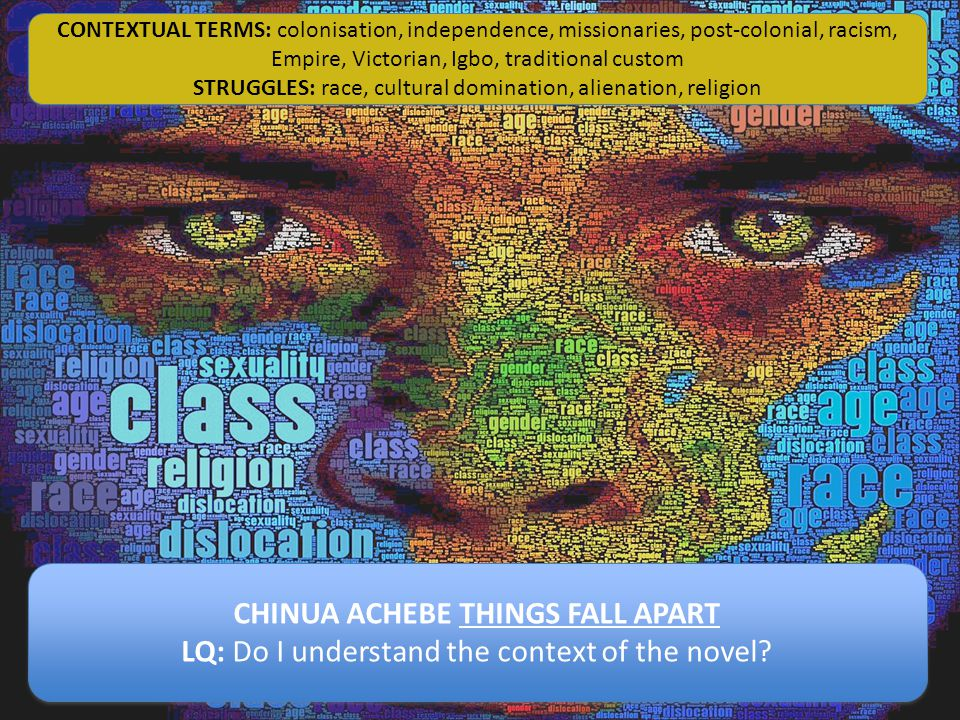CHINUA ACHEBE THINGS FALL APART LQ: Do I understand the context of the novel.