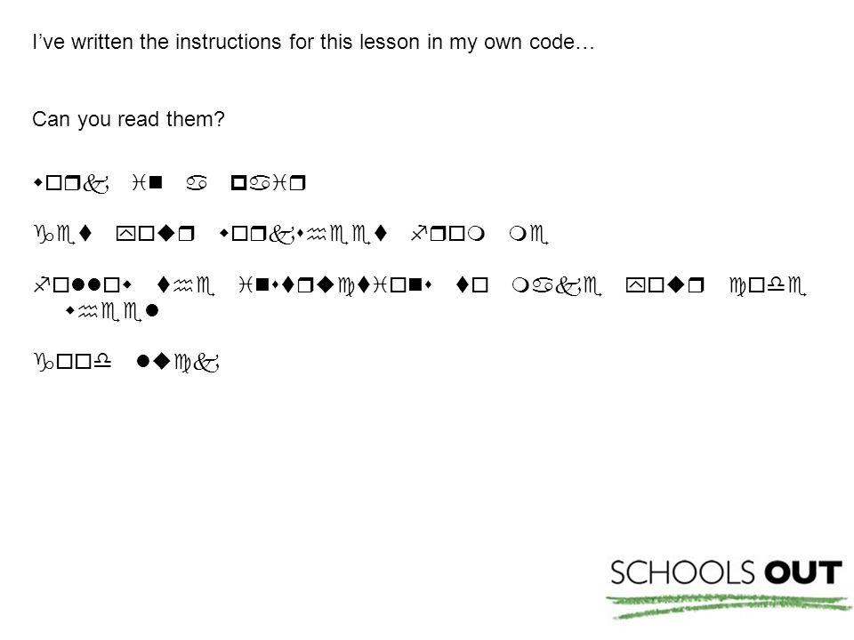 Here's the code again with the key…      Key a  h  o  v  b  i  p  w  c  j  q  x  d  k  r  y  e  l s  z  f  m  t  g  n u 