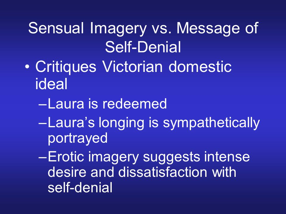 Sensual Imagery vs.