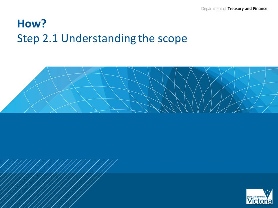 How? Step 2.1 Understanding the scope