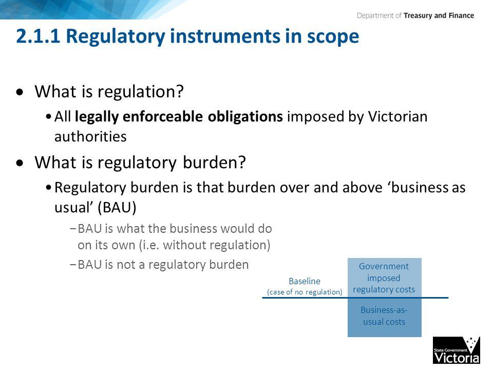 2.1.1 Regulatory instruments in scope  What is regulation.