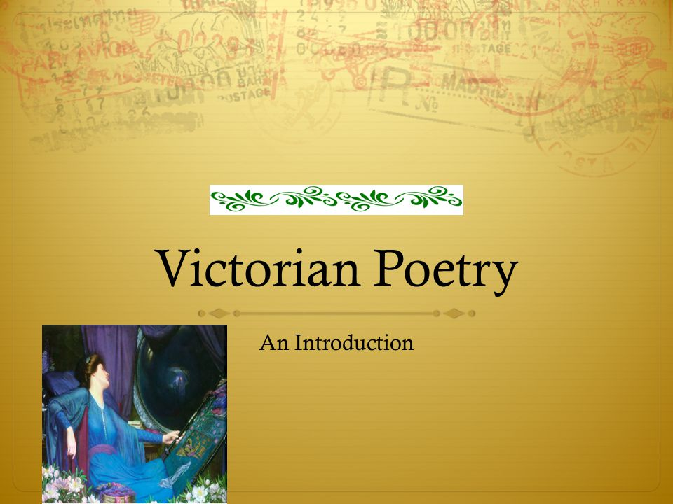 Victorian Poetry An Introduction