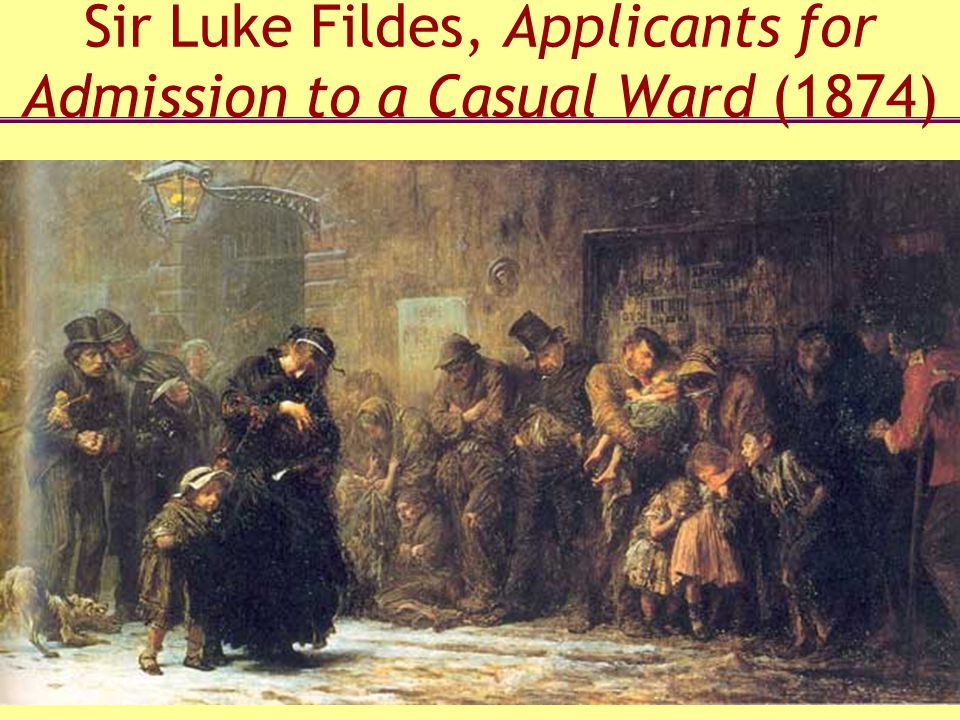 Sir Luke Fildes, Applicants for Admission to a Casual Ward (1874)