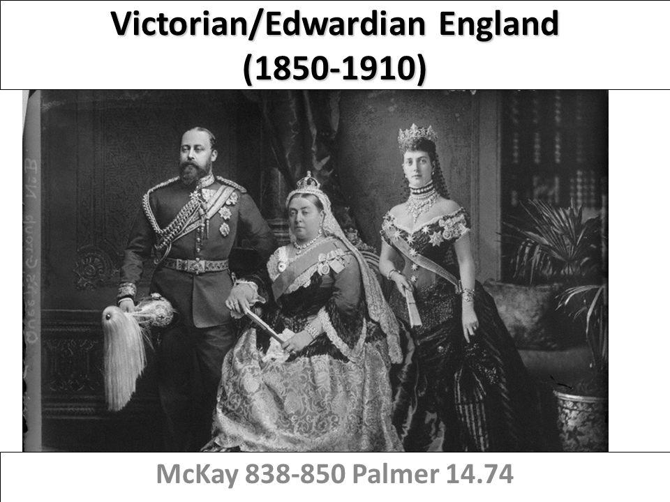 Victorian/Edwardian England (1850-1910) McKay 838-850 Palmer 14.74