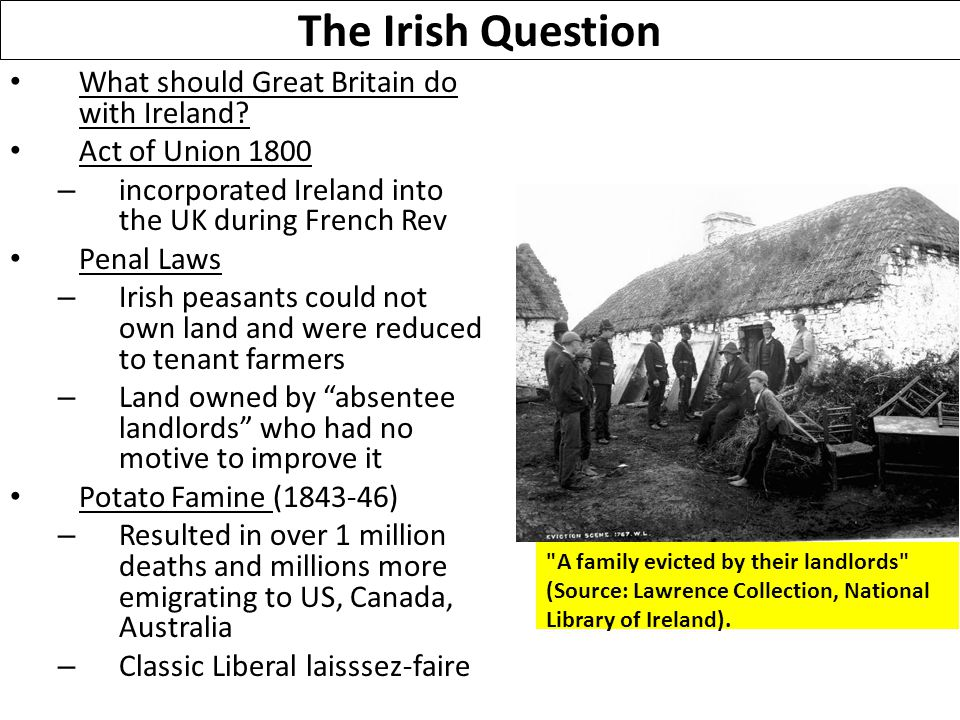 The Irish Question What should Great Britain do with Ireland.