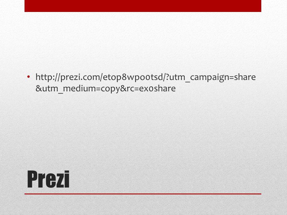 Prezi http://prezi.com/etop8wpo0tsd/ utm_campaign=share &utm_medium=copy&rc=ex0share