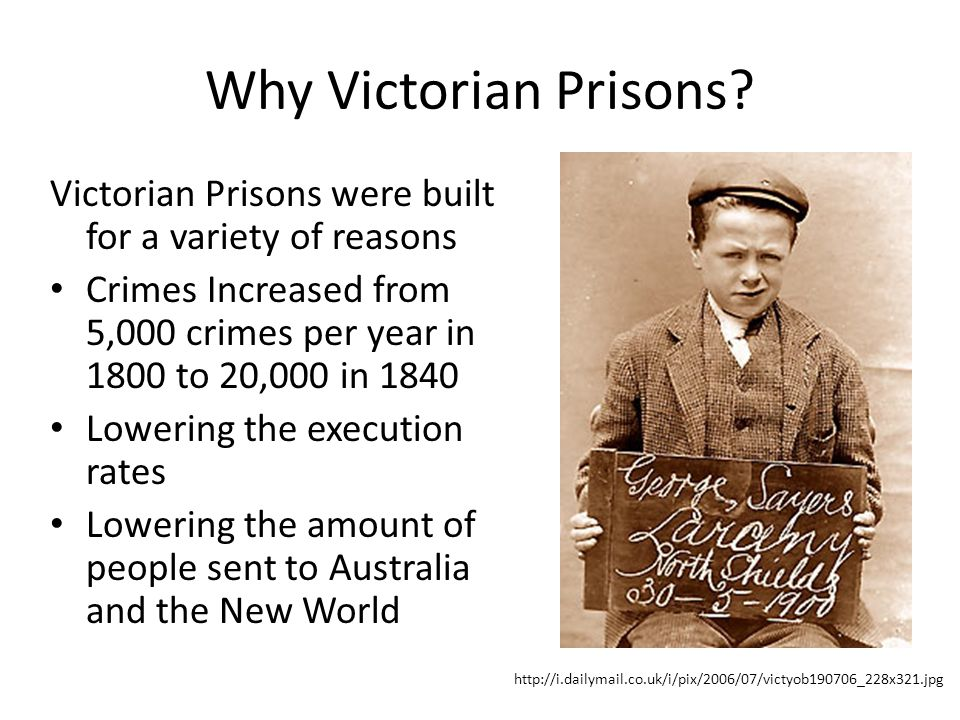 The Prison Reformation Prisons Underwent Change in the Victorian Age Before Unorganized Only for prisoners awaiting trials Badly kept Unsafe Uncared for After Organized Fully kept Large safety measures More convicted prisoners Looked after Large staff (guards, cooks)