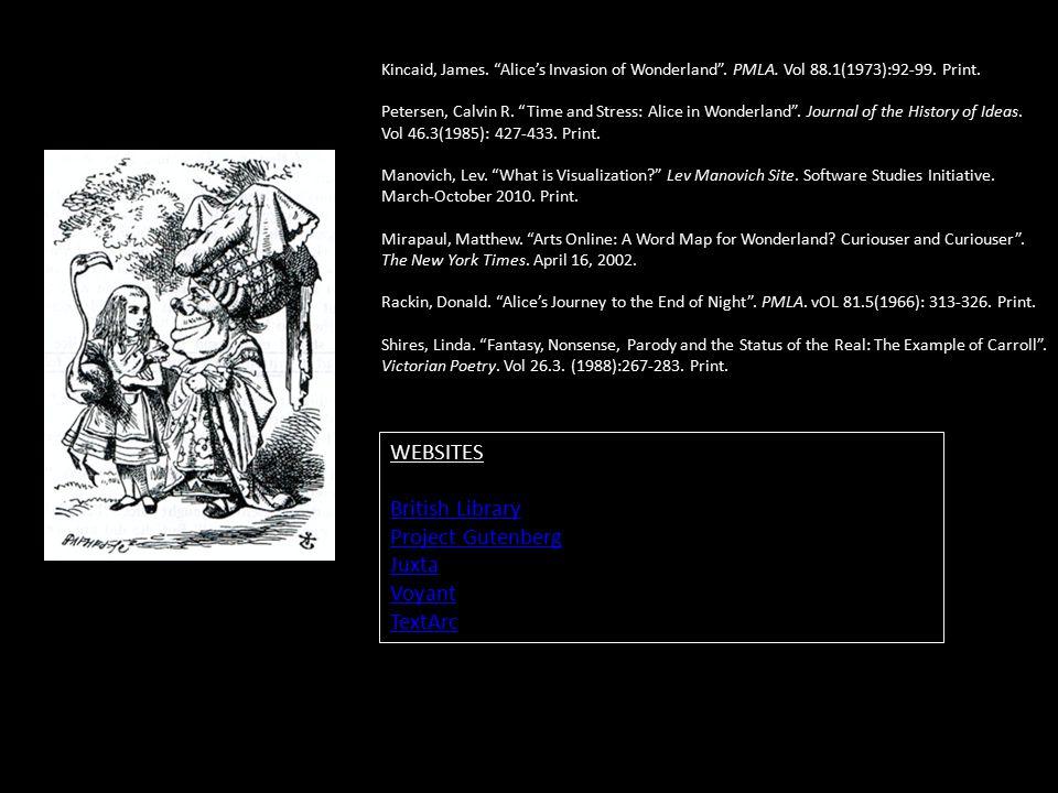 Kincaid, James. Alice's Invasion of Wonderland .