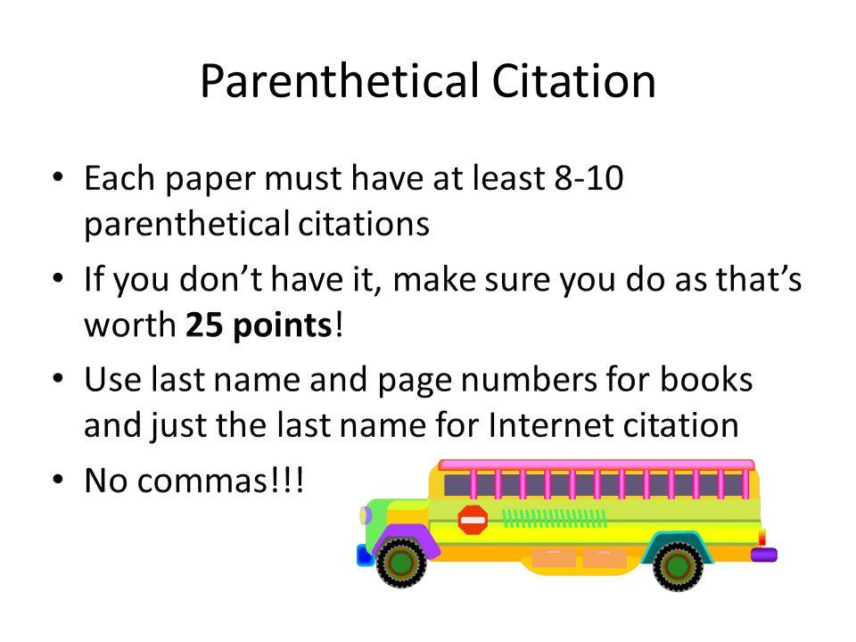 Parenthetical Citation