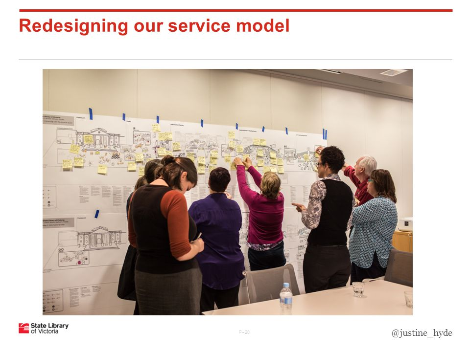 P–20 Redesigning our service model @justine_hyde